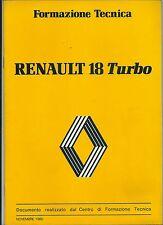 1980-82 RENAULT 18 TURBO Manuale Centro di formazione tecnica Renault