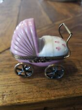 Limoges trinket box Baby Girl Stroller/buggy
