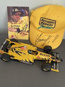 Damon Hill Jordan 198 Honda 1.18 Minichamps 1998 & Signed Jordan Baseball Cap