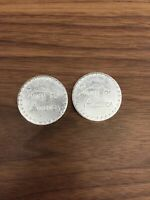 Two Draper Mint 1974 2.5 Troy Oz Swiss Of America .999 Silver Thick Rounds. 5oz