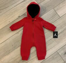 Baby Jordan Jumpman Faux-Sherpa-Lined Hooded Fleece Coverall Team Red Size 6M