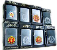 ZIPPO DDR Socialist COMMUNIST IRON CURTAIN COMPLETE SETSpecial Edition MEGA RARE