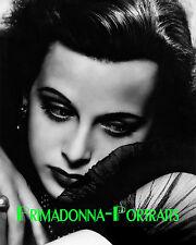 HEDY LAMARR 8X10 Lab Photo B&W 1939 Elegant Dark Shadow Grace Portrait