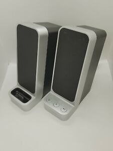 iHome iP71 Computer Stereo System-Dock-iPhone/iPod-Silver USED-NO POWER ADAPTER