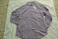 ARMANI COLLEZIONI SHIRT IN MICRO FANCY WEAVE COTTON Size 43/17 Long Brand New