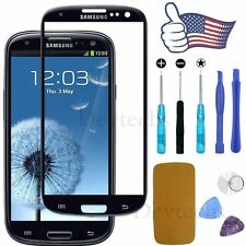 New Black Replacement LCD Front Glass Lens Samsung Galaxy S3 i9300 + Tools