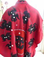 Northwest Coast Native BUTTON Dance Robe/Cape FROG Crest Aboriginal First Nation