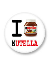 Magnet Aimant Frigo Ø38mm I Love J'aime Nutella