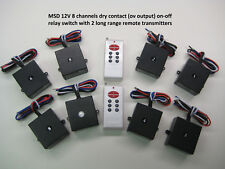 MSD 12v 8 channels dry contact on-off relay switch with 2 remote control RP401-8
