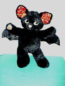 "Build-A-Bear Vampire Bat Glow-in-Dark 19"" Plush Spooktacular Black Halloween"
