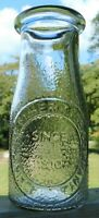 Textured 1/2 Pint Milk Bottle Embossed Dairy Milk By Heritage Company Since 1810