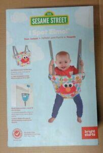 Bright Starts Sesame Street I Spot Elmo! Door Jumper, NEW in Box