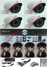 KIT VIDEOSORVEGLIANZA AHD DVR 4 CANALI 4 TELECAMERE INFRAROSSI 1.8MP+HARD 1TB
