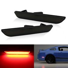 Rear Smoked LED Side Marker Lights Turn Signals Lamp For Ford Mustang 2010-2014