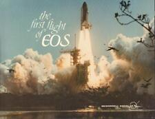 """1980s MCDONNELL DOUGLAS """"THE FIRST FLIGHT OF EOS"""" 8 1/2 X 11"""" LITHOGRAPH VGC"""
