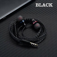 3.5mm Wired In-Ear Super Bass Stereo Headset Earphone Earbuds Headphone With Mic