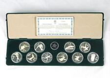 1988 Canada Calgary Silver Proof Olympic 10 Coin Set COA and original Velvet Box