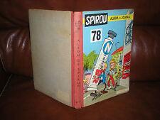 ALBUM RELIE DU JOURNAL SPIROU TOME 78 DU N°1165 AU N°1175 - ANNEE 1960