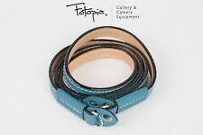 Brand New Arte Di Mano Comodo Full Lining Neck Strap - Shrunken Calf Blue (95cm)