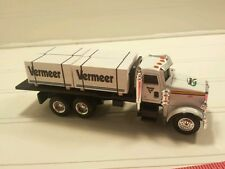 1/64 ERTL farm toy custom Vermeer Peterbilt dealer truck w/ 4 skids speccast dcp