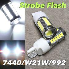 STROBE FLASH Reverse Back up T20 7440 7441 992 W21W SMD LED 6K White Bulb W1 JAE