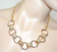 COLLAR mujer oro rosa dorado plata anillos elegante collier colar ожерелье G20