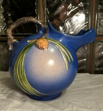 RARE Art Deco 1935 ROSEVILLE Pottery BLUE PINECONE Ball Pitcher / Vase 1321