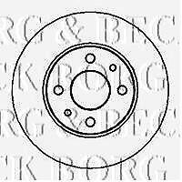 BBD4692 BORG & BECK BRAKE DISC PAIR fits Mitsubishi L200 2.5 Di-D 06 -