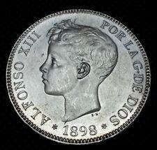 5 pesetas plata Alfonso XIII 1898 SG.V SC