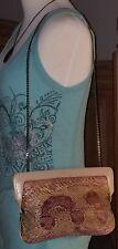 Vintage MARLE Genuine Snake Skin Shoulder Evening Bag Clutch BEAUTIFUL COLORS