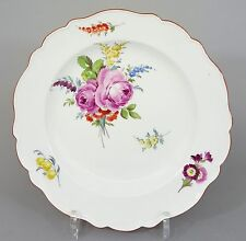 (mt324) Meissen Plate, Colorful Flowers Painting, MARCOLINI PERIOD 1774-1814, 1. Choice
