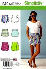 Simplicity Sewing Pattern 1370 Women's 4-12 Shorts Skort Skirts