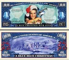 ELVIS PRESLEY / BLUE CHRISTMAS - BILLET DE COLLECTION MILLION DOLLAR US! Rock 60