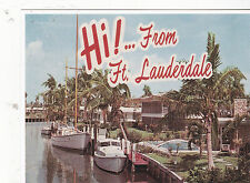 "*POSTCARD-""HI!""...From Ft. Lauderdale""  (Reproduction Old/Circa 1972-  (#93)"