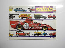 Catalogue Solido Voitures miniatures 1976 TBE