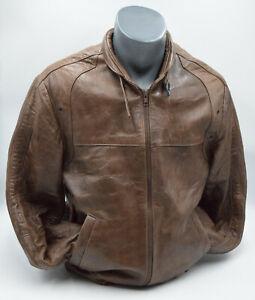 "Leather Lacket British Made By Philmar Clad C&A Mens Brown Medium 38"""