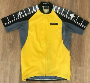 Assos of Switzerland Yellow cycling jersey size L