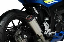 Suzuki GSXS 125 Red Power full system Brushed Stainless Steel Exhaust 2017-2020