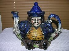 Vintage Ceramic Teapot Colonial Man - Hand Painted