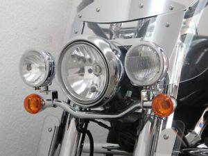 Fehling Lampenhalter Zusatzscheinwerfer für Kawasaki VN900 Classic (VN900B) 06-