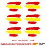 6 X BANDERA ESPAÑA SPAIN PEGATINA ADHESIVO VINILO COCHE MOTO CASCO TUNING CORTE