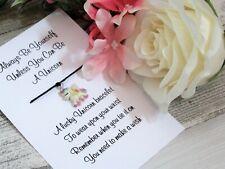 Unicorn Wish Bracelet Friends Gift Resin Unicorn Charm Friendship Gift Card