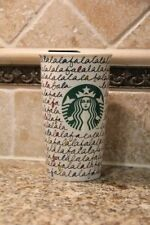 Starbucks Holiday 2011 Ceramic Travel Tumbler 12 oz - FaLaLaLaLa