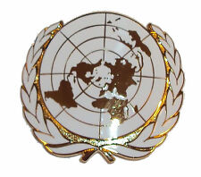 New OFFICIAL Issue OR's United Nations Cap Badge - UN Beret Badge