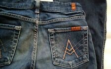 7 for All Mankind A Pocket Women's Size 24 Distressed Flare Designer Jeans