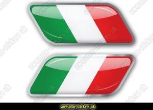 2 x ITALIAN flag stickers 015 Fiat 500 decals vinyl graphics Scuderia Italia
