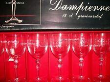 Cristal d'arques 6 verres a vin  modèle Dampierre