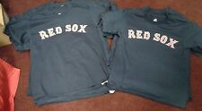 NEW BOSTON RED SOX TEAM JERSEY MAJESTIC MLB BASEBALL BLANK T-SHIRT  YOUTH M L