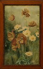 Grande aquarelle fin 19ème étude de fleurs signée J. Pierre