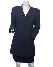 Christian Dior Size 4 Navy Blue Skirt Suit Vintage Women's